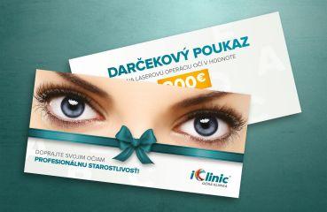 Darčekový poukaz na laserovú operáciu očí