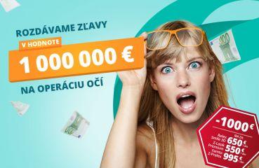 Rozdávame zľavy v hodnote milión EUR na operácie očí